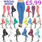 CLEARANCE Ladies Womens Plain Coloured Jeggings Stretch Skinny Denim Jeans Pants