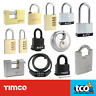 More images of Timco Veto Disc Combi and Keyless High Quality Padlocks - Silver / Metal and Brass