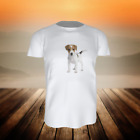 (TS 38 40) T-SHIRT HUND JACK RUSSELL WELPE - Gr. 92 - 164 - inklusive Name