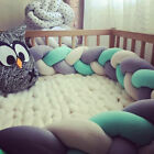 NEW Infant Plush Crib Bumper Bed Bedding Cot Braid Pillows Pad Protector-mo UK