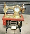 VINTAGE DEISIGN METAL CLOCK SWEWING MACHINE TABLE ACCESSORIES