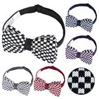 DQT Premium Knitted Plaids Checks Checkered Casual Classic Mens Pre-Tied Bow Tie