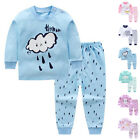 2x Cute Kids Baby Boys Girls Clothes Top+Pants Cotton Baby Pajamas Sleepwear Set