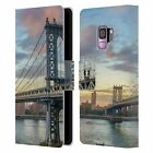 HEAD CASE DESIGNS CITY SKYLINES LEATHER BOOK CASE FOR SAMSUNG PHONES 1