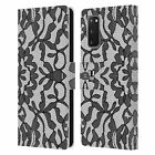 HEAD CASE DESIGNS BLACK LACE LEATHER BOOK WALLET CASE FOR SAMSUNG PHONES 1