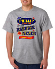 Bayside Made USA T-shirt Am Philip Save Time Let's Just Assume Never Wrong