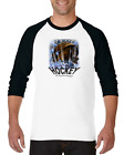 Raglan T-shirt 3/4 Sleeve Long Sports Hockey Explosion