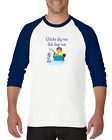 Gildan Raglan Tshirt 3/4 Sleeve Chicks Dig Me Fish Fear Me Funny Fishing