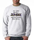 Gildan Long Sleeve T-shirt All I Care About Is Zombies Maybe 3 People