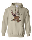 hooded Pullover Sweatshirt Hoodie Nature Deer Whitetail Buck Hunting