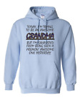 Gildan Hoodie Pullover Sweatshirt Freaking Awesome Grandma Trying Exhausted