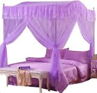 Home Princess 4 Corners Post Insect Bedding Canopy Netting Curtain Mosquito Net image