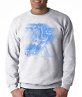 Gildan Crewneck Sweatshirt Sports Hockey Player Motion Shadow Blue
