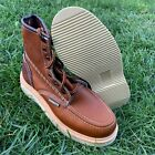 MENS WORK BOOTS SOFT MOC TOE GENUINE LEATHER GOODYEAR WELT MADE BOTAS TRABAJO