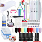 10/6 Colors Soak Off Gel Nail Polish Kit 6W LED UV Lamp Pedicure Art Tools Set