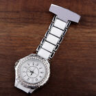 Colorful Stainless Round Diamond Dial Quartz Fob Quartz Pocket Nurse Watch Rose