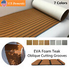 94.5''x35.4'' Teak Decking Marine Boat Flooring Carpet Sheet Yacht EVA Foam US