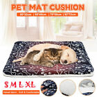 Dog Mattress Washable Thick Cage Crate Sherpa Pet Puppy Travel Mat Soft Cotton