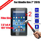2X New Tempered Glass Screen Protector For Amazon Kindle fire 7 2015 2016 2018
