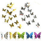 12pcs 3d Butterfly Diy Art Mirror Wall Stickers Home Decal Room Mural Decor