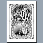 The Heart Of A Tiger METAL POSTER SIGN PLAQUE OR CANVAS OR POSTER WALL ART white