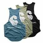 1 Pc Men Bodybuilding Gyms Workout Fitness shirt clothing Stringer Cotton Sleeve