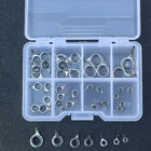 70Pcs Ceramic 7 Sizes Fishing Rod Guide Tips Top Eye Rings Line Repair Kit Set