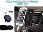 CAR MAGNET PHONE HOLDER✔DOUBLE CAR CHARGER + CABLE - MICROSOFT LUMIA 532