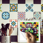 10pcs Colorful Moroccan Self-adhesive Bath Kitchen Wall Stair Floor Tile Sticker