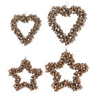 Rose+Gold+Metal+Bell+Star+or+Heart+Wreath+-+Hanging+Christmas+Decoration+Bauble