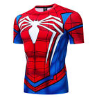 Marvel Superhero Spiderman Costume Cosplay Compression Gym Workout Mens T-shirt