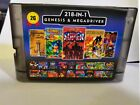 Super 218 in 1 Sega Genesis & MD Multigame 16-Bit Game Cartridge Clear back case