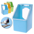 Plastic Bird Parrot Feeding Box Food Container Pigeons Cage Hanging Tool Useful
