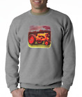 Gildan Long Sleeve T-shirt Country Farm Farmer Tractor Antique Barn Yellow
