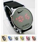 Nike LED Watch Round Mirror Face SILICONE BAND New W/out Tags No Box Many Colors image