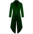 uk Victorian Steampunk Swalow Gothic Men Tailcoat Jacket Ringmaster Tail Coat
