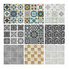 Tile Wall Stickers Transfers Moroccan Mosaic Pattern Home Self-adhesive Sticker
