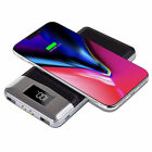 USA 20000mAh Power Bank Backup Battery Qi Wireless Charger For Samsung Note 10