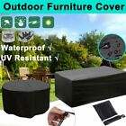 Outdoor Waterproof Patio Furniture Cover Rectangular Garden Rattan Table Cover