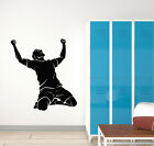 Vinyl Wall Decal Soccer Sport Player Game Ball Victory Stickers Mural (g1327)