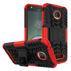For Moto G6 G7 Plus Z4 Play G7 Power Rugged Armor Hybrid Kickstand Case Cover