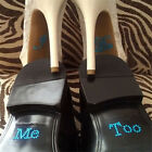I Do & Me Too Set Wedding Bridal and Groom Shoes Sticker Wedding Decal  bk