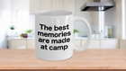 Camp Coffee Mug White Cup Funny Gift for Summer Deer Hunting Church Camp Vibes