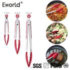 Eworld New Silicone Kitchen Cooking Salad Serving BBQ Bread Tongs High temperatu