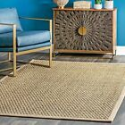 nuLOOM Casuals Hesse Checker Weave Seagrass Area Rug in Natural