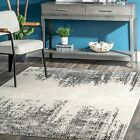 nuLOOM Vintage Penelope Faded Tribal Chevrons Area Rug in Gray