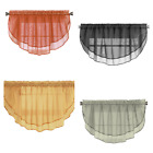 "1PC WATERFALL VOILE SHEER VALANCE SCALLOPED RIBBON EDGE ROD POCKET 55"" W X 18"" L"