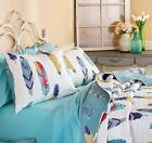 Feather Print Pillow Shams Quilted Bedding Bed Bedroom Southwest Country Decor image