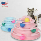 Pet Cat Interactive Toy Balls Crazy Ball Trilaminar Tower of Tracks Kitten Toys $11.95 USD on eBay
