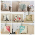 Online Home Decor Fabric Home Decor Cotton Linen Square Pillow Case Sofa Waist Throw Cushion Cover D3 Make Your Own Home Decorations